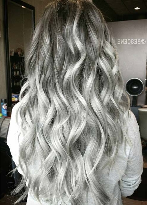 85 Silver Hair Color Ideas And Tips For Dyeing, Maintaining Your Throughout Glamorous Silver Blonde Waves Hairstyles (View 11 of 25)