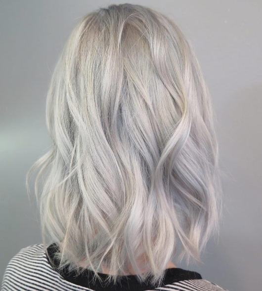 899 Icy Blonde Lob – Style Skinner Intended For Ice Blonde Lob Hairstyles (Gallery 6 of 25)