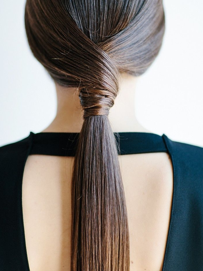 9 Easy Hairstyles For When Your Hair Is 90% Dry Shampoo | Byrdie With Knotted Ponytail Hairstyles (View 18 of 25)