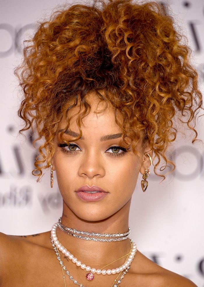 9 Easy On The Go Hairstyles For Naturally Curly Hair   Byrdie Pertaining To Easy High Pony Hairstyles For Curly Hair (View 13 of 25)