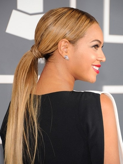 9 New Ponytails To Try This Summer | Allure Regarding Loose And Looped Ponytail Hairstyles (View 4 of 25)