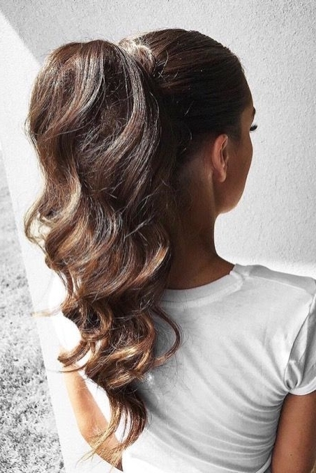 9 Ponytails For Every Occasion | Hair > Color,cuts, Styles Within Ponytail Hairstyles With Wild Wavy Ombre (View 19 of 25)