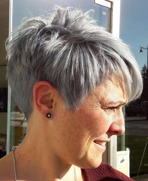 90 Classy And Simple Short Hairstyles For Women Over 50 | Pixies In Most Recent Choppy Gray Pixie Hairstyles (View 12 of 25)