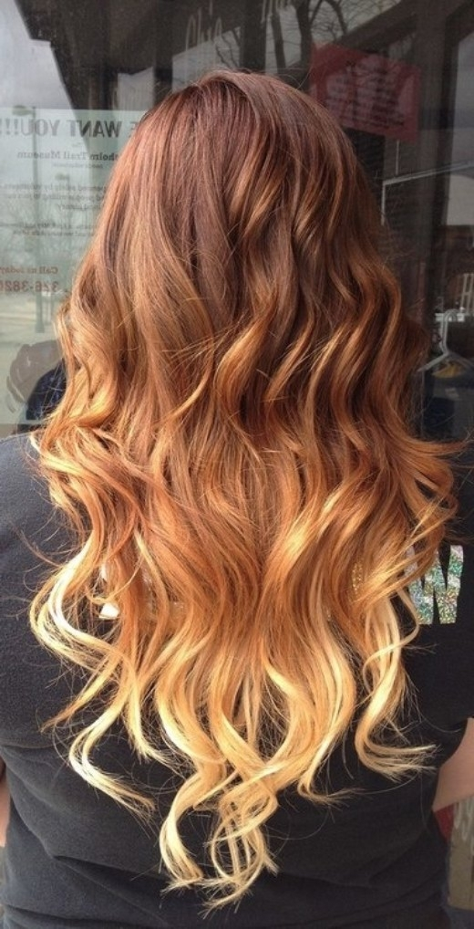 90 Hottest Ombre Hairstyles For Women – Ombre Hair Color Ideas For Blonde Ombre Waves Hairstyles (View 7 of 25)