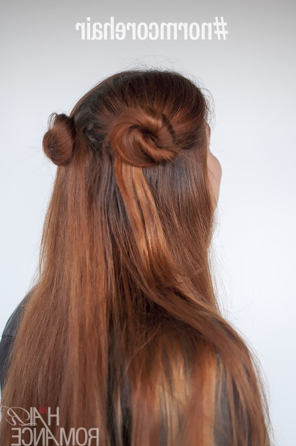 90S Inspired #normcore Hair Tutorials – Half Up Double Ponytails And With Regard To Double Tied Pony Hairstyles (View 21 of 25)