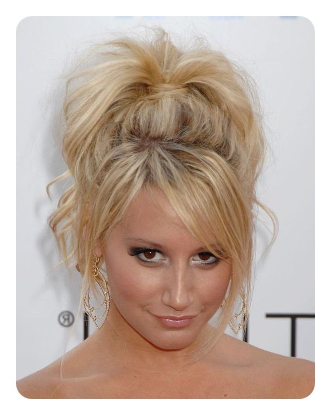 97 Amazing Ponytail With Bangs Hairstyles For High Messy Pony Hairstyles With Long Bangs (View 17 of 25)