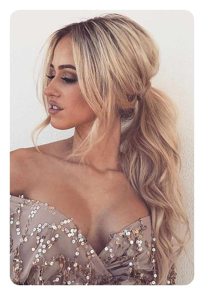 97 Amazing Ponytail With Bangs Hairstyles In Messy Waves Ponytail Hairstyles (View 14 of 25)