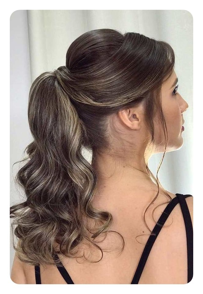 97 Amazing Ponytail With Bangs Hairstyles Intended For Glamorous Pony Hairstyles With Side Bangs (View 10 of 25)