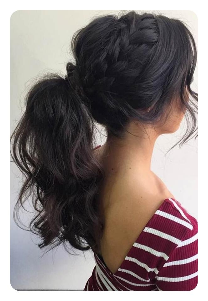 97 Amazing Ponytail With Bangs Hairstyles Pertaining To Glamorous Pony Hairstyles With Side Bangs (View 14 of 25)