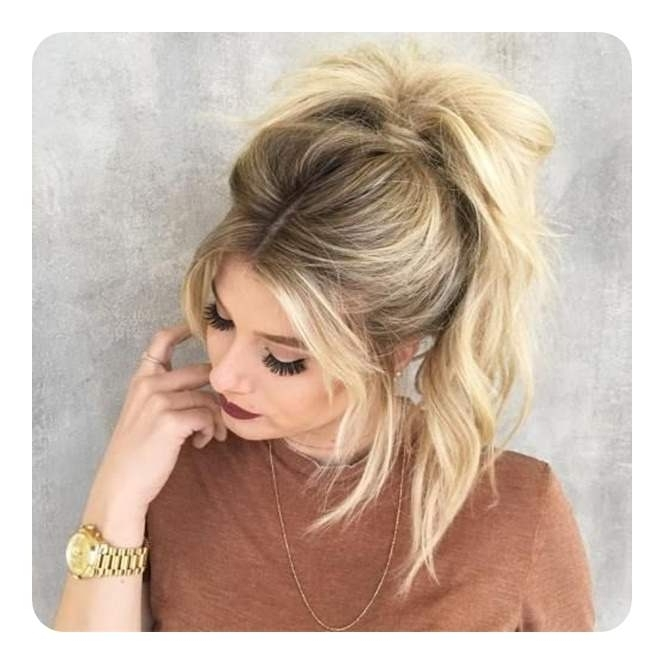 97 Amazing Ponytail With Bangs Hairstyles With Glamorous Pony Hairstyles With Side Bangs (View 25 of 25)