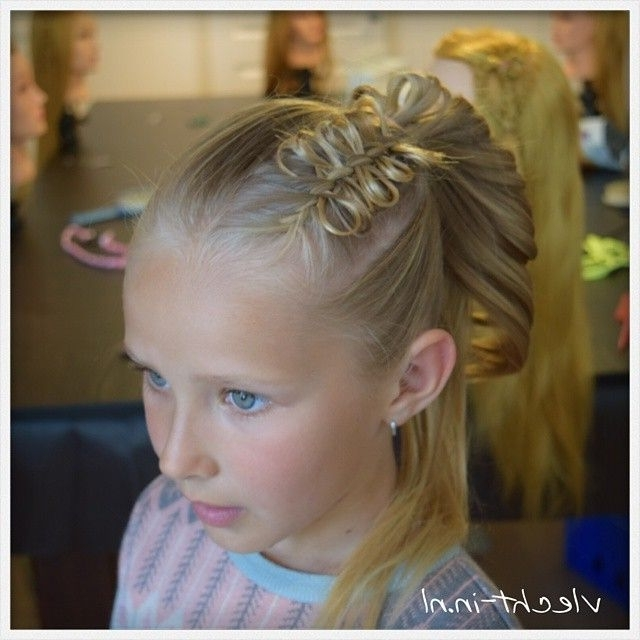 A #bowbraid With A Braided High Ponytail #cutegirlshairstyles Within Bow Braid Ponytail Hairstyles (View 25 of 25)