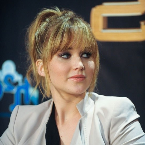 A Brigitte Bardot Inspired Ponytail | Jennifer Lawrence's Best Intended For Bardot Pony Hairstyles (View 18 of 25)