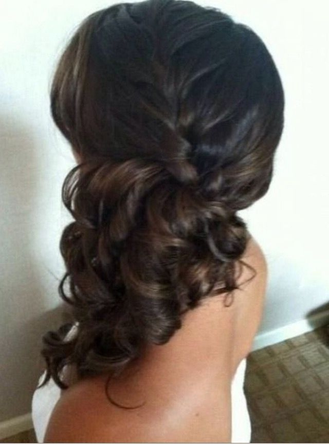 A Brunette Beauty Showing Off This Gorgeous Side Pony With A Braid In Formal Side Pony Hairstyles For Brunettes (Gallery 9 of 25)