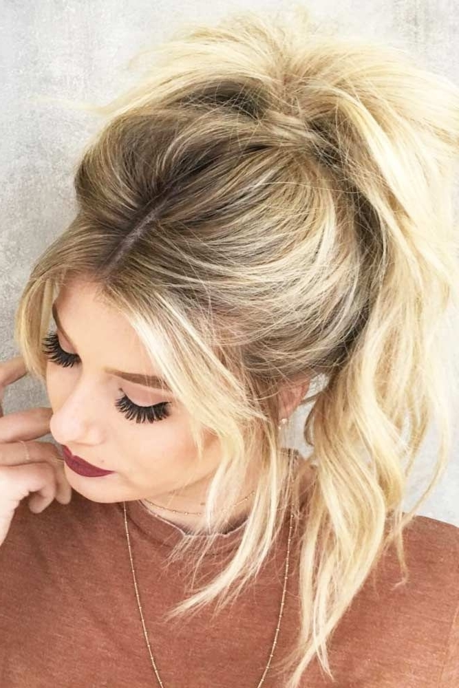 A High Ponytail Hairstyle Looks Super Pretty (View 20 of 25)