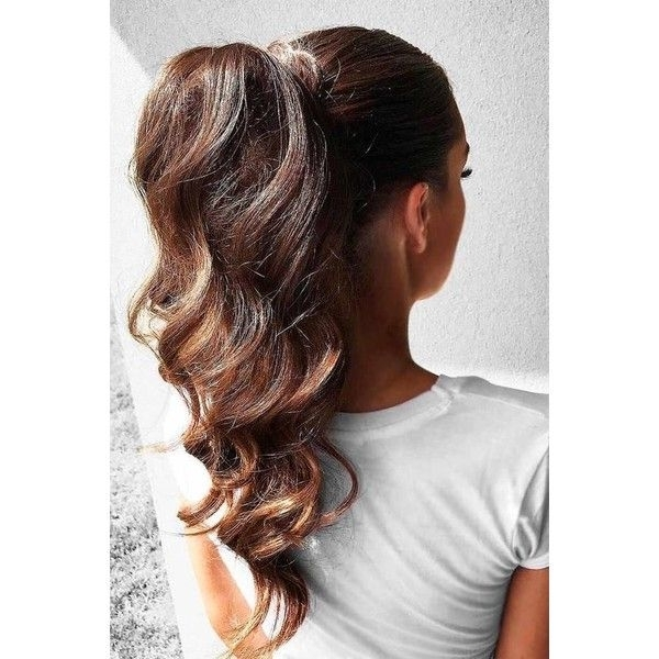 A High Ponytail Trend ? Liked On Polyvore Featuring Accessories Within High Ponytail Hairstyles With Accessory (Gallery 6 of 25)