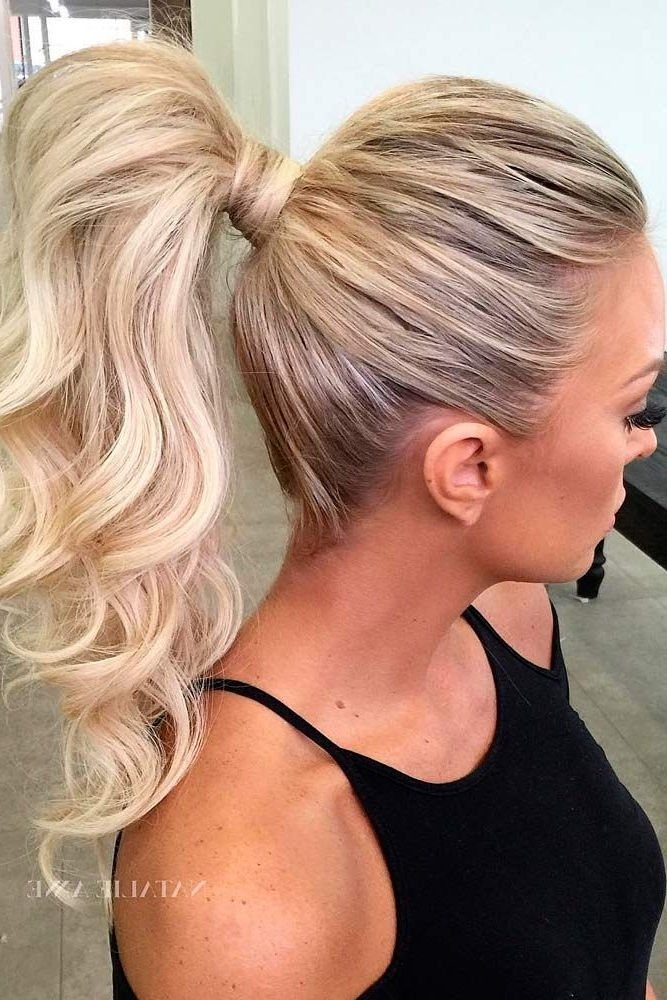 A High Ponytail Trend | Hair | Pinterest | High Ponytails, Stylish Pertaining To Intricate Updo Ponytail Hairstyles For Highlighted Hair (View 19 of 25)