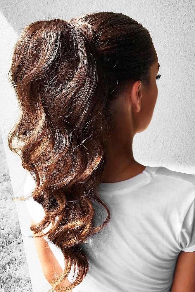A High Ponytail Trend | Hair Styles | Pinterest | Stylish Hairstyles With Long Brown Hairstyles With High Ponytail (View 13 of 25)