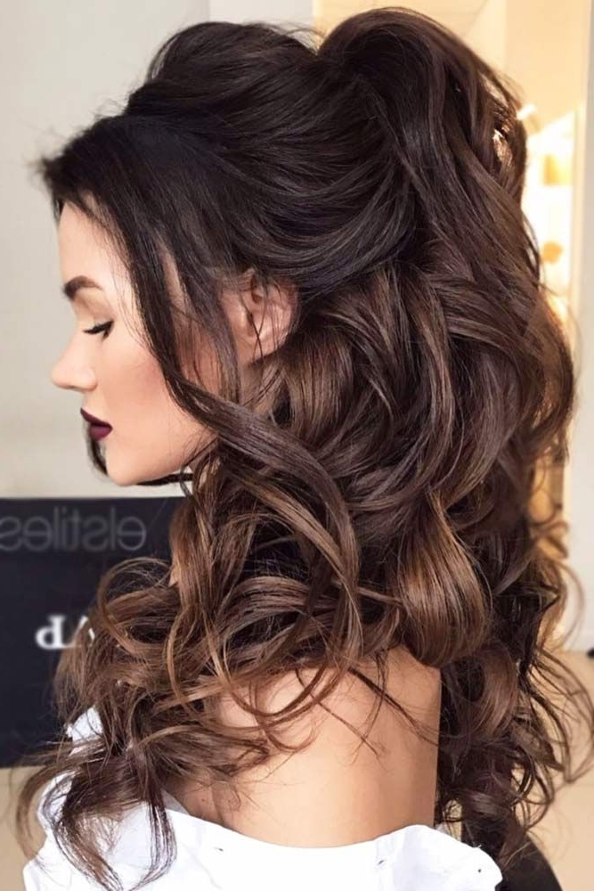 A High Ponytail Trend In 2018 | Hair | Pinterest | High Ponytail Intended For Brunette Prom Ponytail Hairstyles (Gallery 12 of 25)