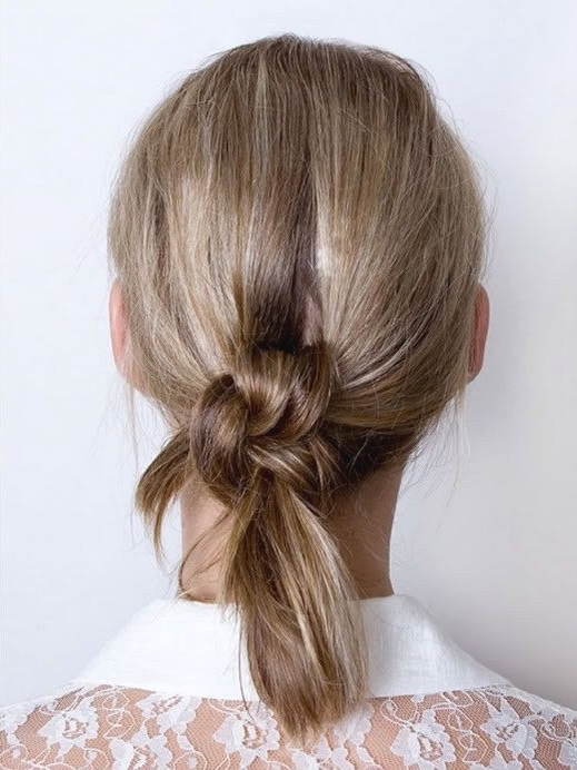 A Loose Double Knotted Ponytail Will Hold Way Better With Spin Pins With Regard To Knotted Ponytail Hairstyles (View 12 of 25)