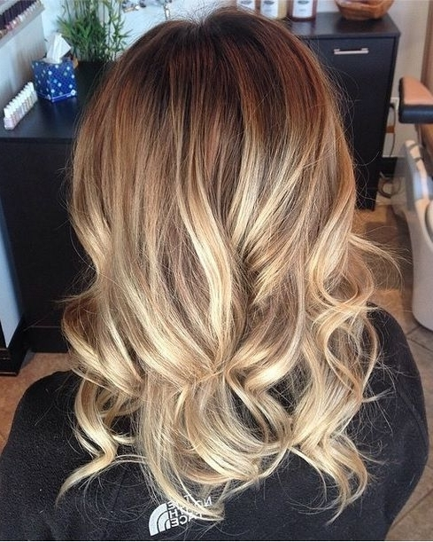 A Mix Of Honey Hued And Lighter Highlights On A Naturally Darker In Medium Honey Hued Blonde Hairstyles (Gallery 4 of 25)
