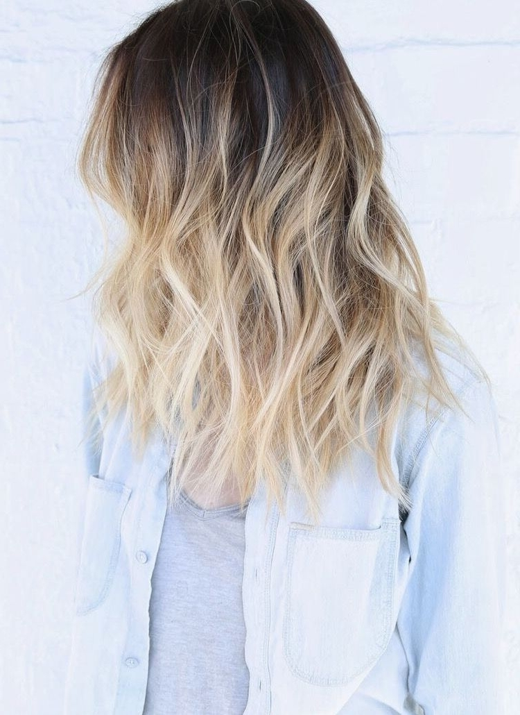 A Very Pretty Blonde Ombre With Gentle Waves (View 13 of 25)