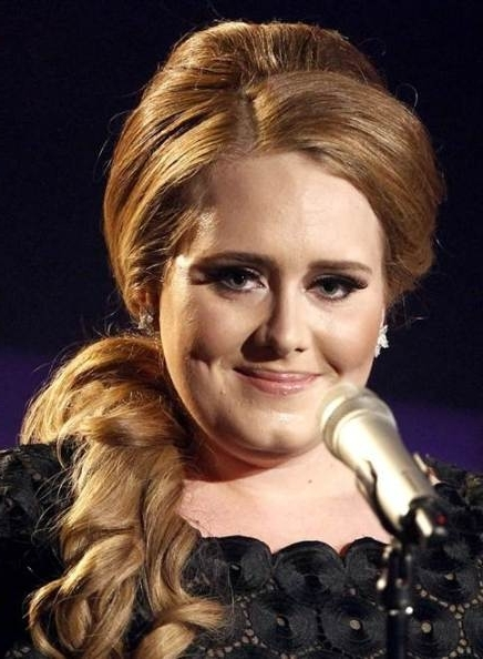 Adele Low Curly Ponytail – Prom, Party, Formal, Awards, Evening Pertaining To Bouffant Ponytail Hairstyles (View 23 of 25)