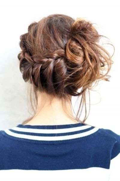 Adorable! To Achieve: Lace Braid From The Front Right Side All The For Messy Pony Hairstyles With Lace Braid (View 21 of 25)