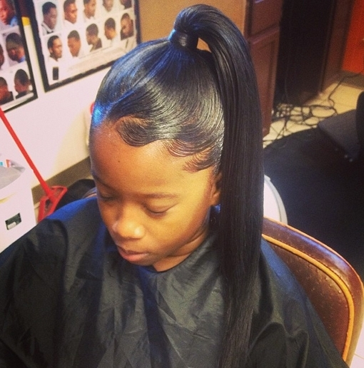 African American Ponytail Hairstyles | African American Hairstyles For Afro Style Ponytail Hairstyles (View 9 of 25)