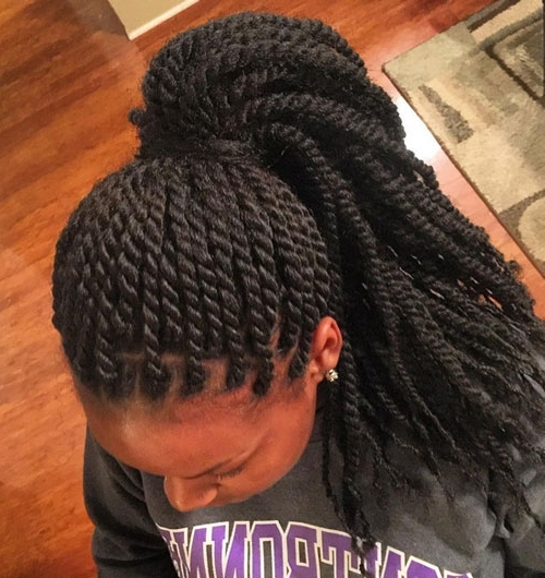 African American Ponytail Hairstyles | African American Hairstyles Inside Entwining Braided Ponytail Hairstyles (View 12 of 25)