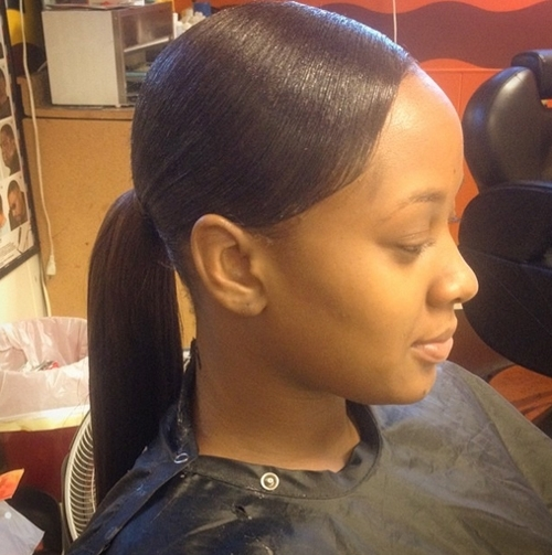 African American Ponytail Hairstyles | African American Hairstyles Within On Top Ponytail Hairstyles For African American Women (Gallery 10 of 25)