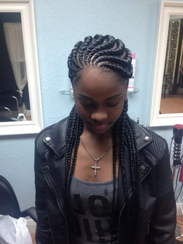 African Hairstyles – Pictures Of All Trendy Hairstyles In Ghana 2018 In Chunky Black Ghana Braids Ponytail Hairstyles (Gallery 21 of 25)