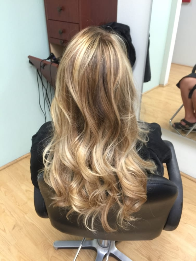 After; A Light/golden Blonde Balayage. – Yelp With Golden Blonde Balayage Hairstyles (Gallery 21 of 25)