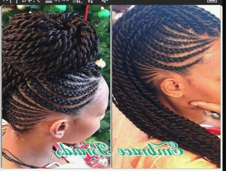 Agreeable Mohawk Hairstyles In Braids Also Braided Mohawk Style Bun Pertaining To Braided Hawk Hairstyles (Gallery 18 of 25)