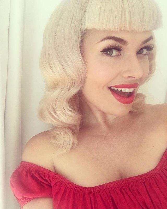 Ahhh, That Feeling Of Freshly Cut Bettie Bangs. This Cutie Used With Silver Bettie Blonde Hairstyles (Gallery 13 of 25)