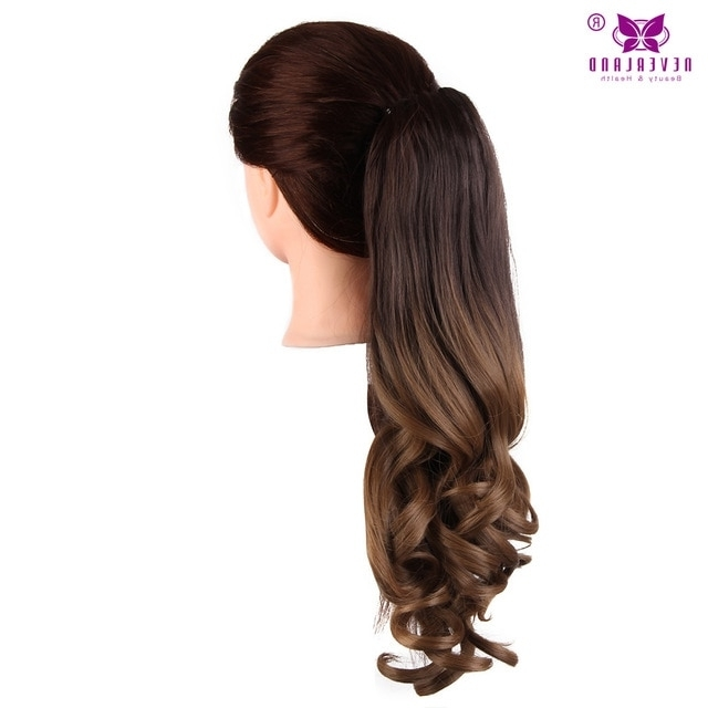 """Aimei 20"""" 50Cm Synthetic Wavy Claw Clip In Ponytail Hair Extension Within Ponytail Hairstyles With Wild Wavy Ombre (View 14 of 25)"""