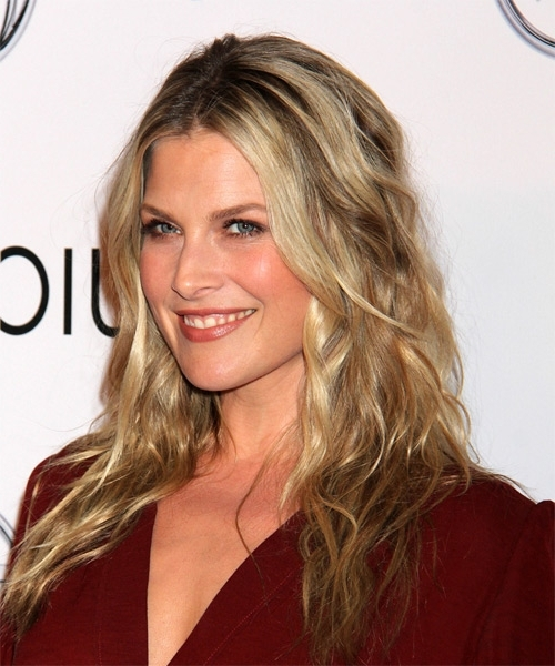 Ali Larter Long Wavy Casual Hairstyle – Dark Blonde Hair Color With Regarding No Fuss Dirty Blonde Hairstyles (Gallery 21 of 25)