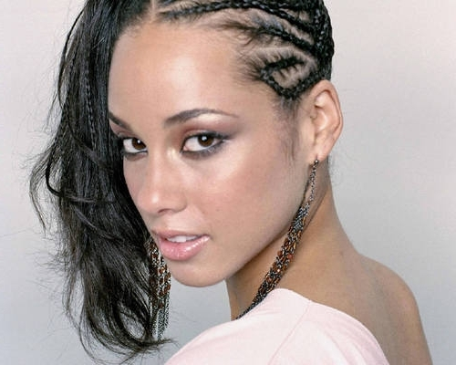 Alicia Keys Braided Side Ponytail – Prom, Formal, Evening In Braided Side Ponytail Hairstyles (View 11 of 25)
