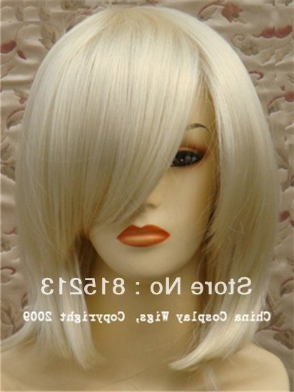 Aliexpress : Buy Dd00247 Bang Cream Colored Blonde Short Bob Wig Throughout Cream Colored Bob Blonde Hairstyles (View 24 of 25)