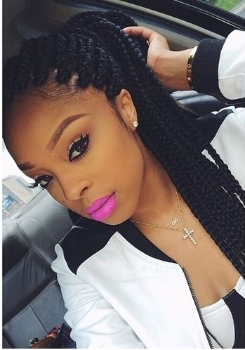 Amazing Micro Braids Hairstyle – Trendy Hairstyles 2019 For Long Within Micro Braid Ponytail Hairstyles (View 8 of 25)
