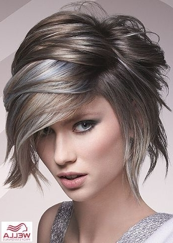 Amazing Silver Highlights! | Hair | Pinterest | Silver Highlights Pertaining To Most Current Silver And Brown Pixie Hairstyles (View 7 of 25)