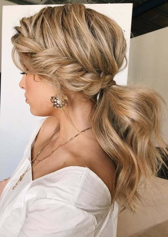 Amazing Trends Of Textured Braided Ponytail Hairstyles 2018 | Modeshack For Pony Hairstyles With Textured Braid (Gallery 2 of 25)