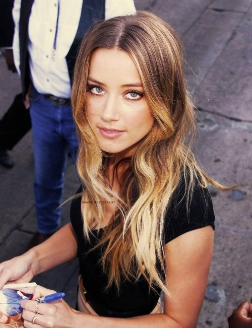 Amber Heard Hair Color – Hair Colar And Cut Style With Amber And Gold Blonde Hairstyles (View 9 of 25)