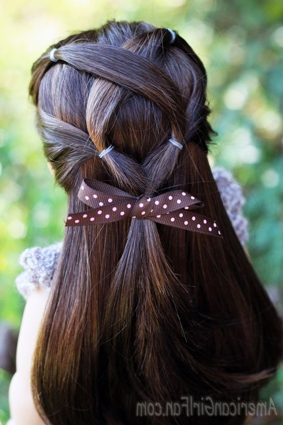 American Girl Doll Criss Cross Ponytail Hairstyle (Via With The Criss Cross Ponytail Hairstyles (View 2 of 25)