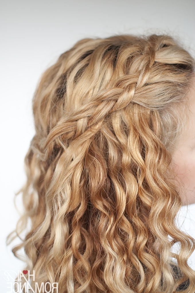 An Easy Half Up Braid Tutorial For Curly Hair – Hair Romance Intended For Braids With Curls Hairstyles (View 5 of 25)
