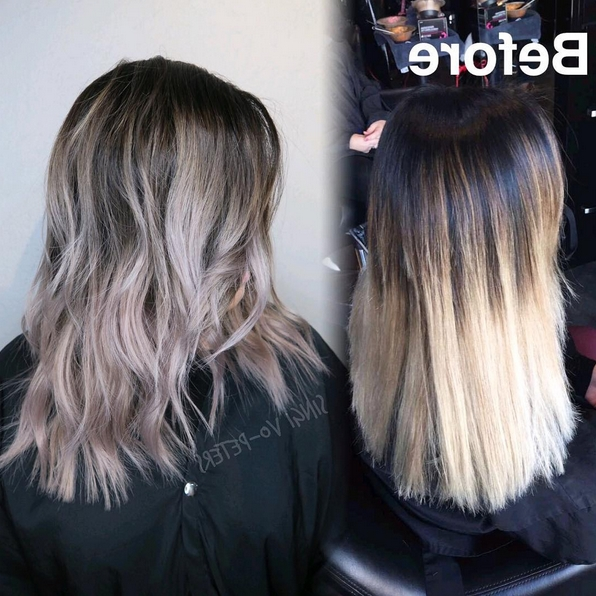 And Now, We've Reached Peak Hair Goals: Color Melting. | Hair And For Blonde Color Melt Hairstyles (Gallery 10 of 25)