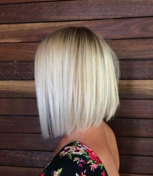 Angled Bob For Fine Hair | Hair Color Ideas And Styles For 2018 Throughout Inverted Blonde Bob For Thin Hair (Gallery 19 of 25)