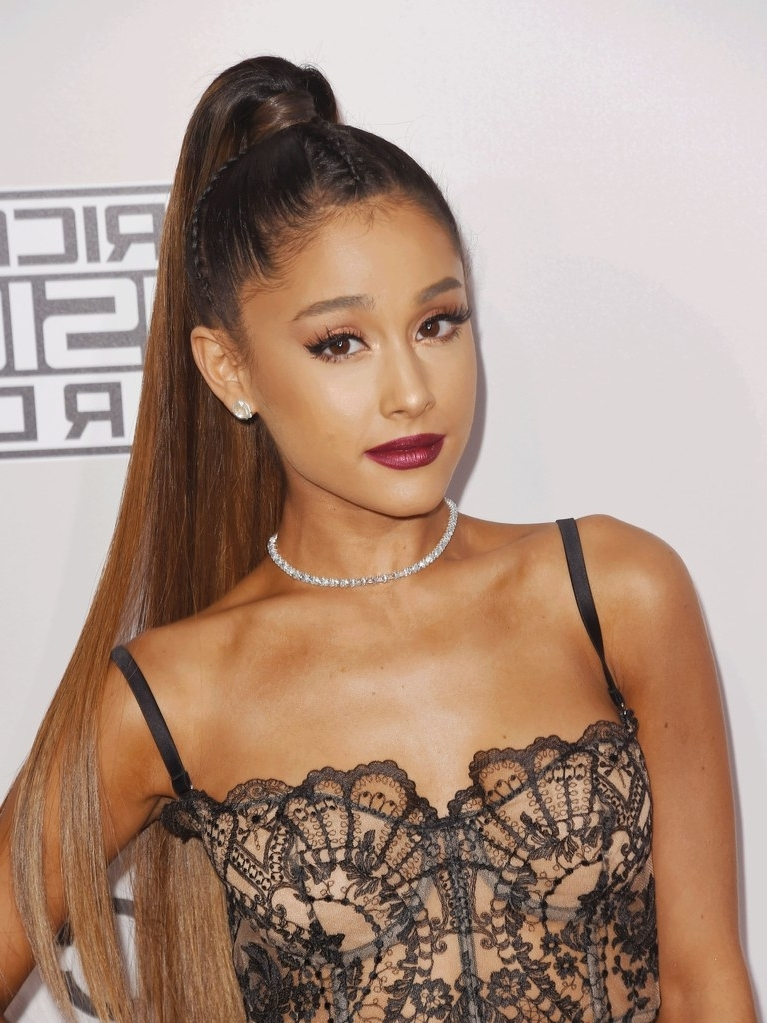 Ariana Grande Without Her Signature Ponytail Has Fans Confused | Allure Regarding Grande Ponytail Hairstyles (Gallery 17 of 25)