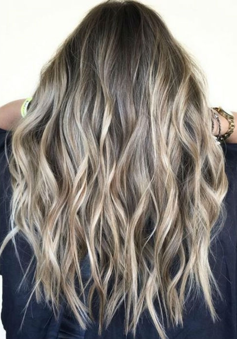 Ash Blonde Balayage And Silver Ombre Hair Color Ideas 2017 Pertaining To Dirty Blonde Balayage Babylights Hairstyles (View 19 of 25)