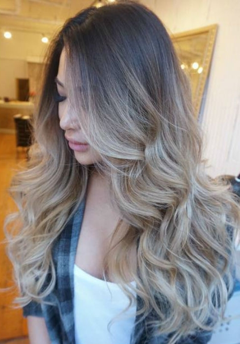 Ash Blonde Balayage And Silver Ombre Hair Color Ideas 2017 With Regard To Dark Brown Hair Hairstyles With Silver Blonde Highlights (View 23 of 25)