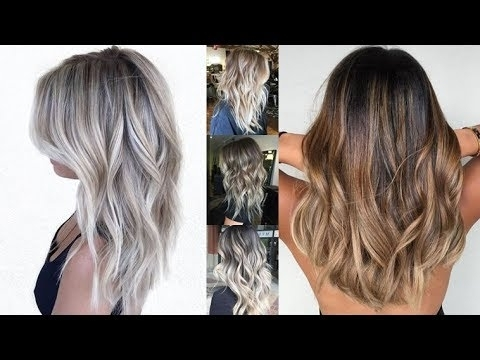 Ash Blonde Balayage For Long + Medium Or Short Hair – Youtube Pertaining To Medium Blonde Balayage Hairstyles (View 23 of 25)